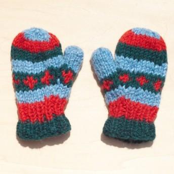 限定クリスマスプレゼント子供/子供の手袋のためのニットピュアウール暖かい手袋/手袋/毛手袋/ニット手袋/ミトン - 新鮮な森