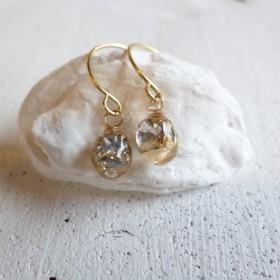 crystal drop pierced