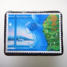 イギリス 切手ブローチ1647