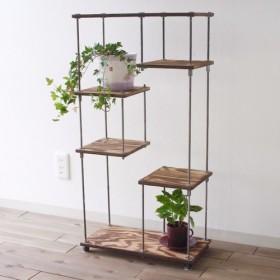 wood iron shelf 890450225〈ブラウン〉