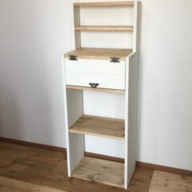 display shelf cabinet WWB h120 BW 上段飾り棚付きキャビネット