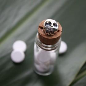 髑髏薬瓶透明 rz-04