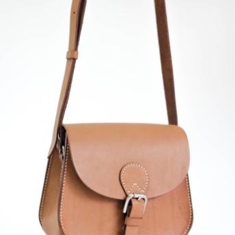 江川ハンズは] [DIYキット古典的な革のサドルバッグ小さな手の単純な縫製シリーズを行うために - 茶色をPKIT BS002(