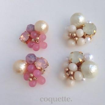 桜の季節にパステルカラーピアス/イヤリング