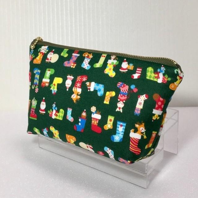 クリスマス サンタ柄ポーチ
