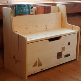 キッズベンチ 収納ボックス付き(埋め木)