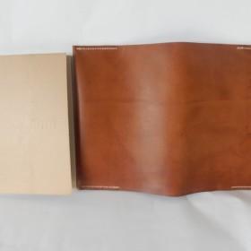 A5 無印良品 手帳カバー 茶色 イタリア製牛革 麻糸手縫い