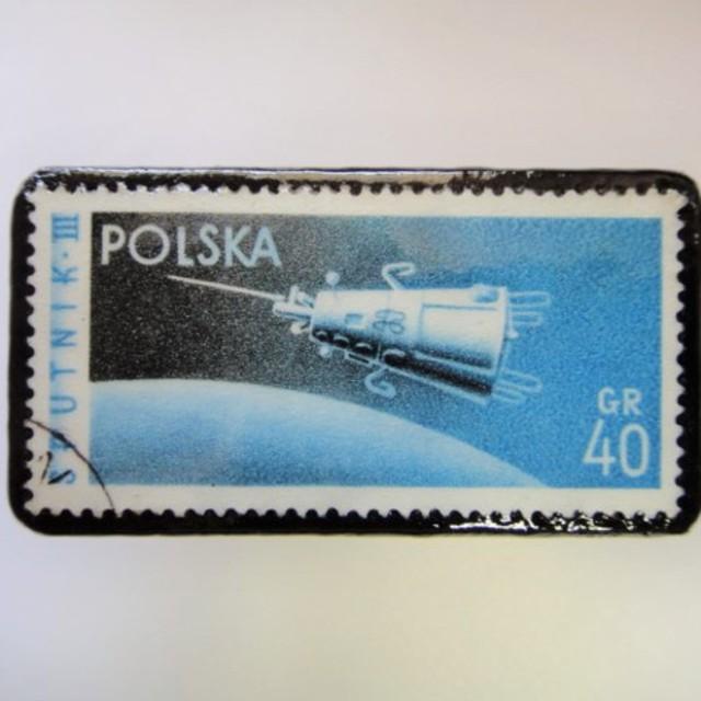 ポーランド 宇宙切手ブローチ 2694