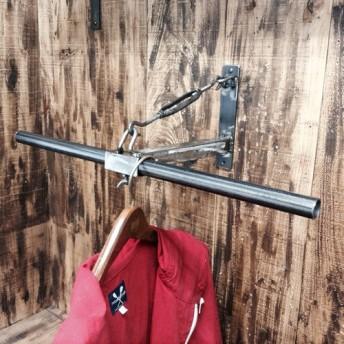 アイアン T型 壁掛けハンガー 工業系 L600