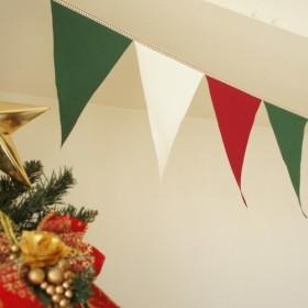 布ガーランド 290cm フラッグ 旗 キャンプ・パーティ飾り クリスマス