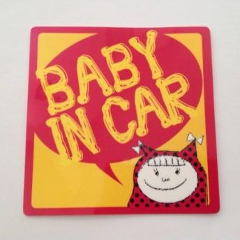 BABY IN CAR ステッカー 女の子