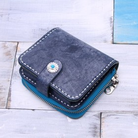 【切線派】牛革手作り小型収納財布025006