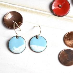 ガタガタ青空フランシウムラング銅のイヤリング