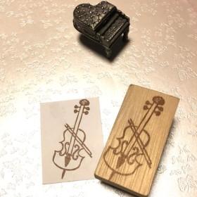 ♪ 楽器はんこ【チェロ】3×5.5cm