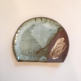 ススキの半月皿