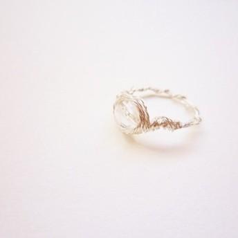 水晶カット Wire Ring
