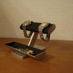 腕時計スタンド だ円ブラック4本掛けどっしり腕時計スタンド ak-design