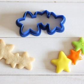 3連の星クッキー型・クッキーカッター
