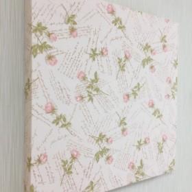 壁に簡単ピタッ!ミニ薔薇でお上品に. 30cm角フリースタイルボード(ファブリックパネル)