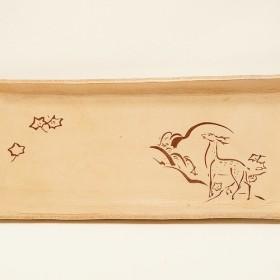 【和風革トレー】奈良の鹿 和柄シリーズ