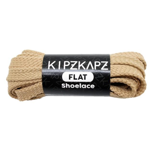 KipzKapz FS1 Beige 90cm / 115cm / 140cm / 160cm - Tali Sepatu Pipih / Flat Shoelace: Rp 28.000