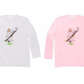 ファゴット猫の長袖Tシャツ