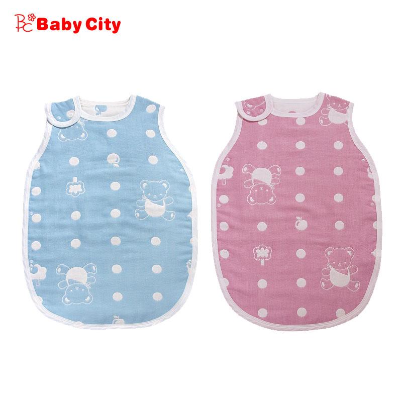 Baby City 六層紗背心睡袍