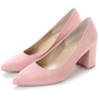 フェミニンカフェ Feminine Cafe レディース グリッターソールパンプス 17000 ピンクスエード