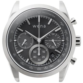ハイブリッドスマートウォッチ wena wrist Chronograph Solar Silver Head WH-CS01 S