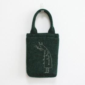 《受注制作》クーネッツの小さいウールバッグ/グリーン