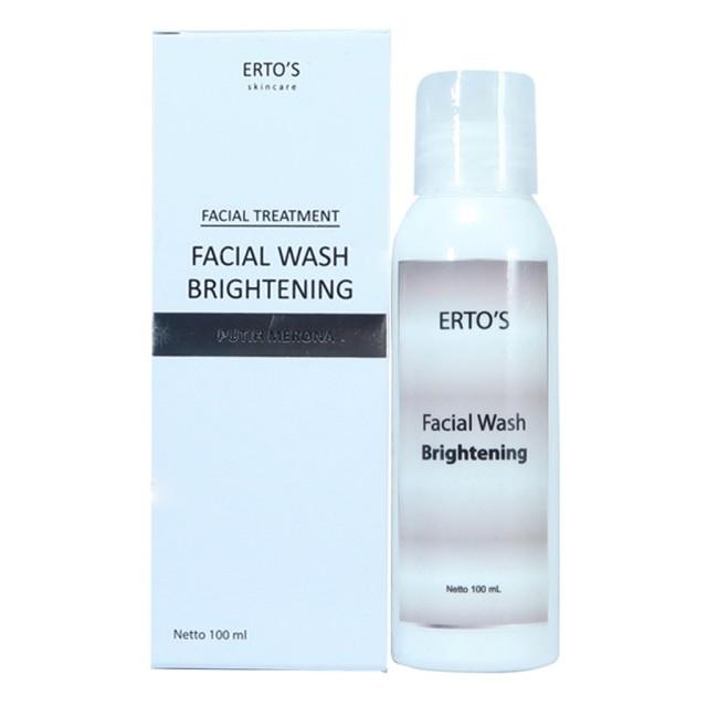 ERTOS Facial Wash Brightening / Putih merona ERTO'S: Rp 145.000 Rp 90.000
