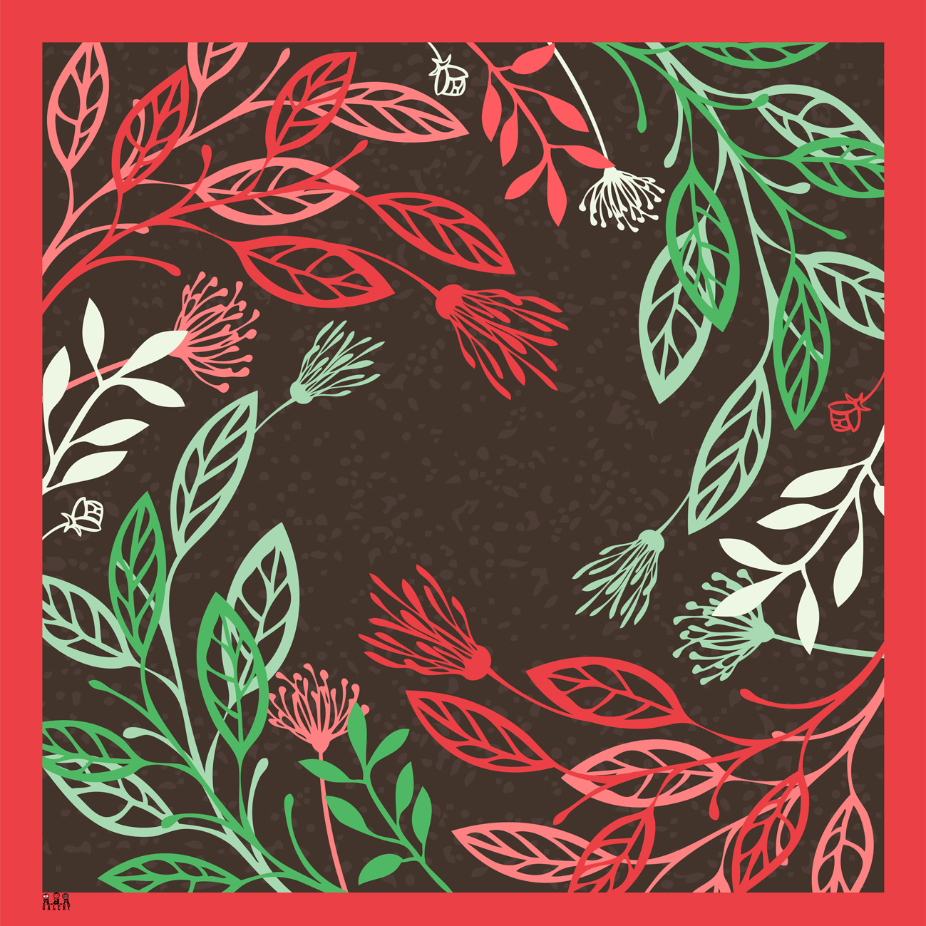 [PRE ORDER] Jilbab Segi Empat Printing Custom Motif Floral