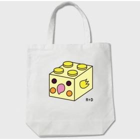 ブロックシリーズ オカメインコ トートバッグ [ ホワイト ] 【送料無料】