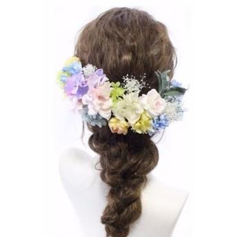 head dress pastel hydrangea
