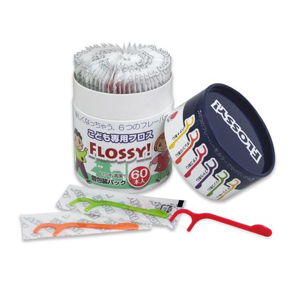 Flossy 木醣醇水果味兒童牙線60入(2~6歲)