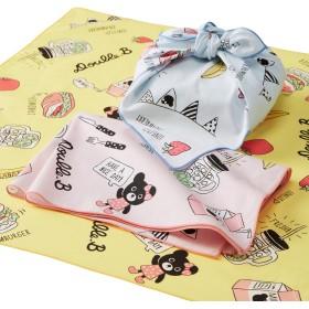 ミキハウス コミック風ランチクロスセット ピンク