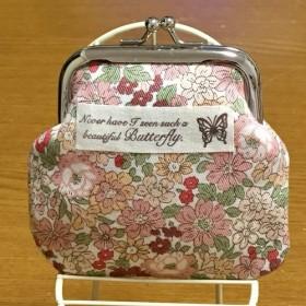 花柄がま口財布