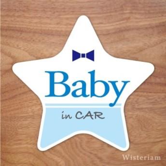 【再販】ベビーインカー マグネット ステッカー 星 baby in car