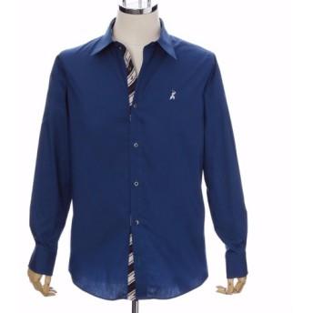 16. サムライドレスシャツ 長袖 (ブルー)Lサイズ /4562356771189