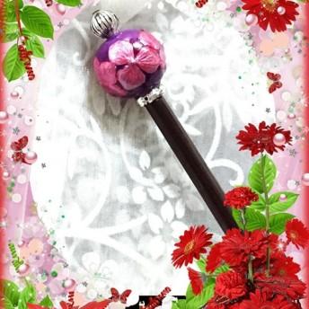 25mmサイズ玉パールピンク色紫陽花玉かんざし