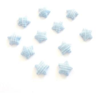 「#1151」デニム風星カボション(ブルー) ︎10個セット