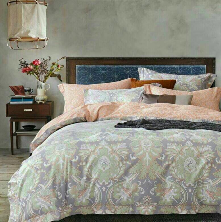 【純天然下殺】(里約圖騰)出清高檔頂級60支天絲鋪棉床罩組5尺
