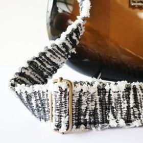 【裂き織】ギターストラップ デニム・MIXカラー 手織り