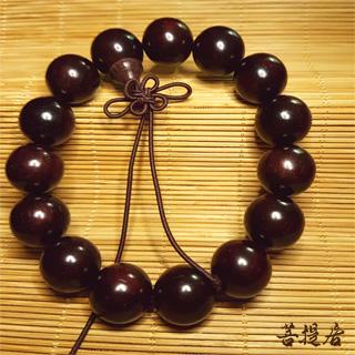 【菩提居】上等沉水紫檀手珠(15mm)