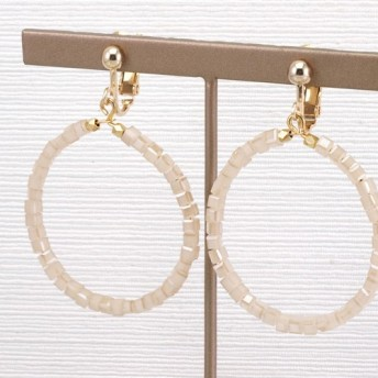Glass Hoop Earrings/ BE