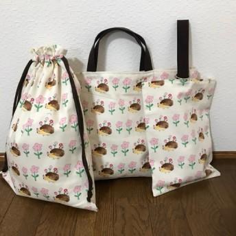 ★入園、入学★レッスンバッグ、お着替え袋、シューズ袋セット