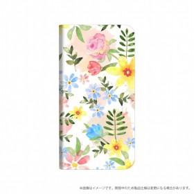 AQUOS R compact用 手帳型ケース 「Design+」 Flower ハッピー LP-AQRCLD05