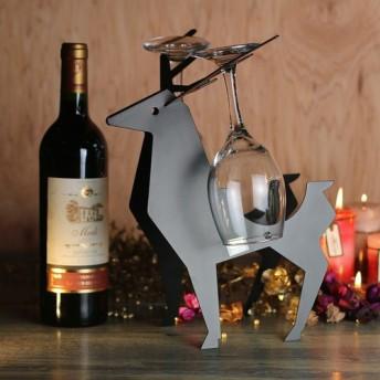 [OPUS Dongqi金属加工]ヨーロッパの錬鉄製のトナカイワインラック/金属のホームバーのワインキャビネットの装飾/リビング