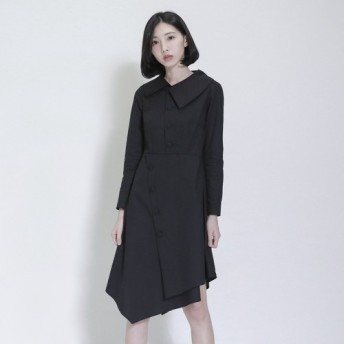 SU:MIは、日周概日非対称黒のストライプのドレスを言っ_7AF116_
