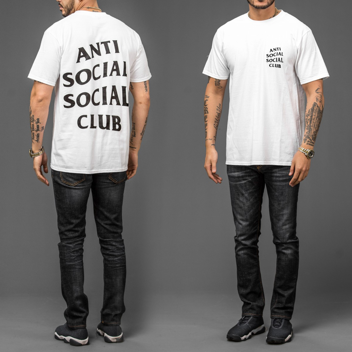 Ellipsesinc Shop Line Kaos Pria Lengan Pendek Basic White Shirt Tumblr Tee T Anti Social Club Warna Putih